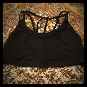 Black Fashion Sports Bra